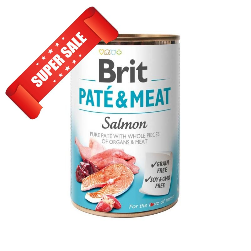 Влажный корм для собак Brit Pate & Meat Salmon 400 г