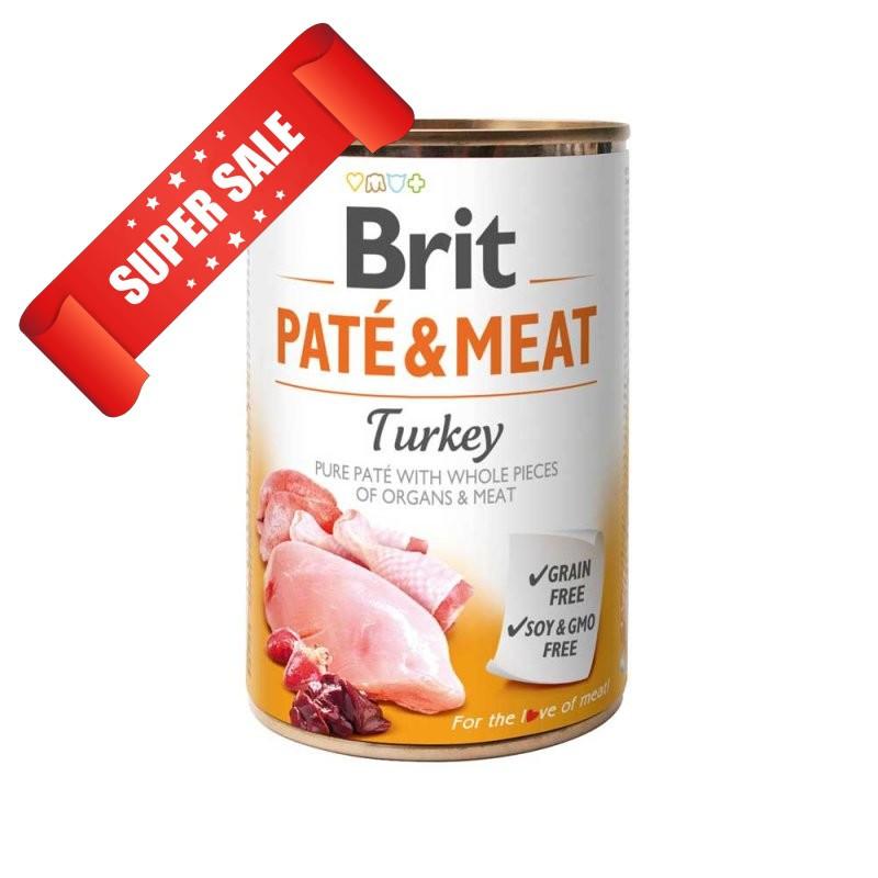 Влажный корм для собак Brit Pate & Meat Turkey 400 г