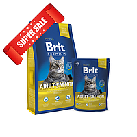Сухой корм для котов Brit Premium Cat Adult Salmon 0,8 кг