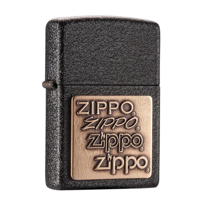 Зажигалка ZIPPO Brass Emblem Black Crackle (362)