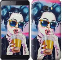 """Чехол на Samsung Galaxy C9 Pro Арт-девушка в очках """"3994u-720-15248"""""""