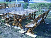 Деревянный стол с лавочками 2,2м