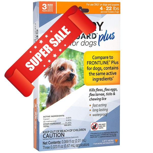 Капли от блох, клещей и вшей Sentry FiproGuard Plus для собак весом до 10 кг 0,67 мл