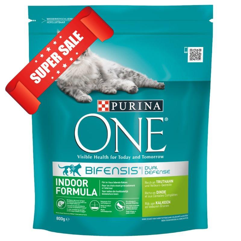 Сухой корм для котов Purina One Indoor Formula Turkey 1,5 кг