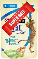 Влажный корм для котов Purina Cat Chow Adult 1+ с лососем и зеленой фасолью 85 г