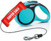 Поводок-рулетка Flexi New Comfort XS, 3 м, трос, синий