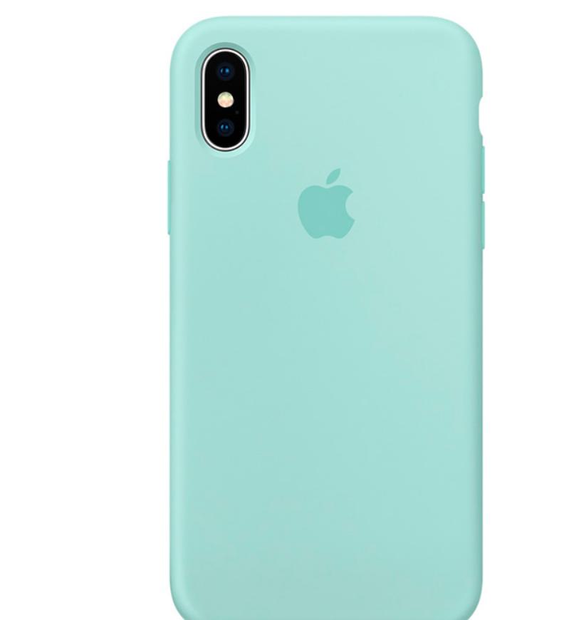 Чехол накладка Silicone Case для iPhone XR - Marine Green