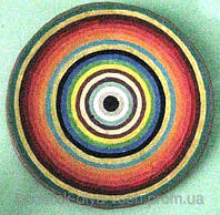 """Тарелка 42 см керамика настенная большая """"Спектр сытости"""" Блюдо керамическое"""