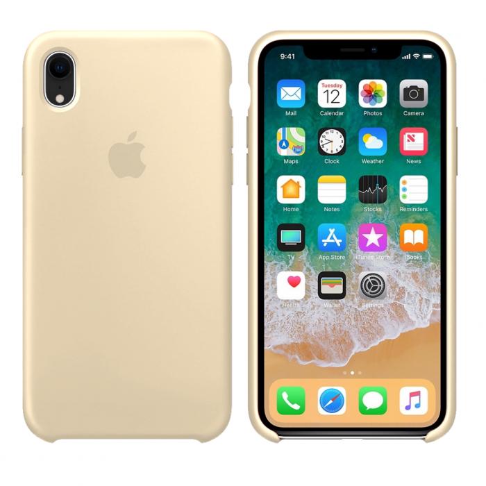 Чехол накладка Silicone Case для iPhone XR - Antique White