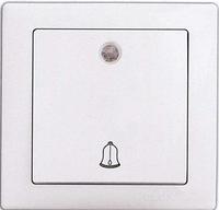 Выключатель 1-клавишный звонок с подсветкой белый DELUX WEGA