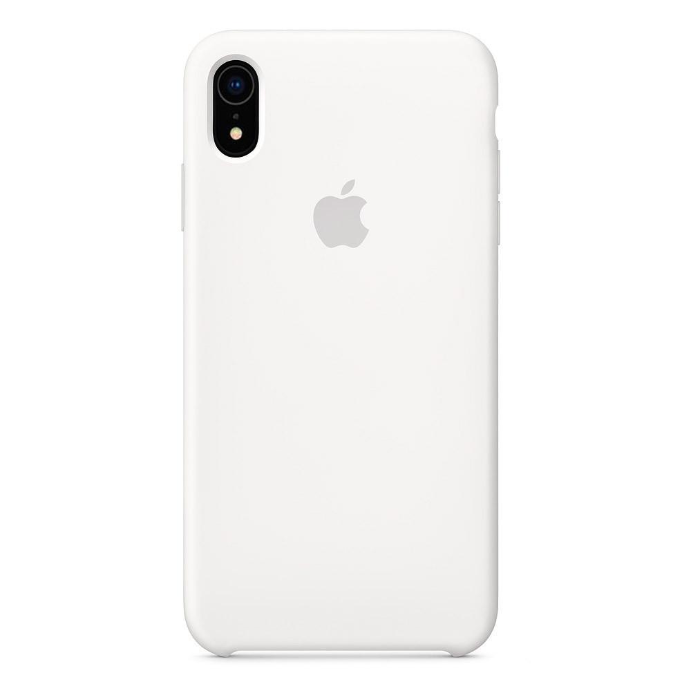 Чехол накладка Silicone Case для iPhone XR - White