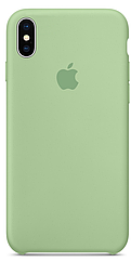 Чехол накладка Silicone Case для iPhone XR - Mint
