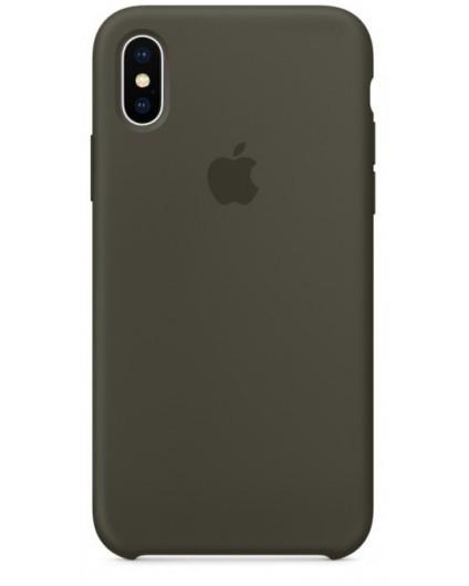 Чехол накладка Silicone Case для iPhone XR - Dark Olive