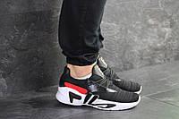 Мужские кроссовки черно-белые Fila 8015