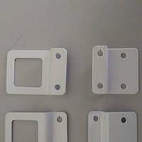 Комплект держателей для москитной сетки, метал., белый, ручка+основание