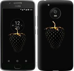 """Чехол на Motorola Moto G5 Черная клубника """"3585u-832-19380"""""""