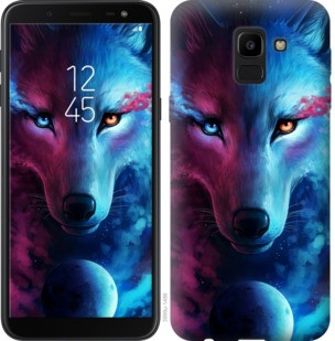 "Чехол на Samsung Galaxy J6 2018 Арт-волк ""3999c-1486-19380"""