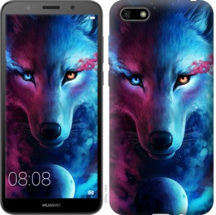 "Чехол на Huawei Y5 2018 Арт-волк ""3999c-1500-19380"""