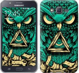 """Чехол на Samsung Galaxy J7 J700H Сова Арт-тату """"3971c-101-19380"""""""