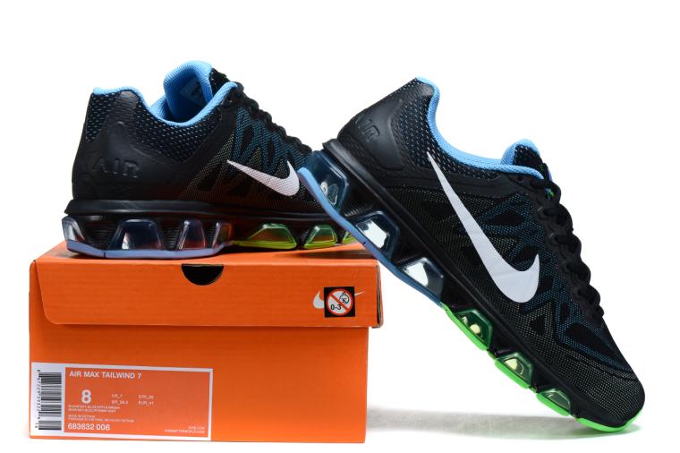 762cd05f ... Мужские кроссовки Nike Air Max 2015 Tailwind 7 Running 20k7  черно-сине-зеленые, ...