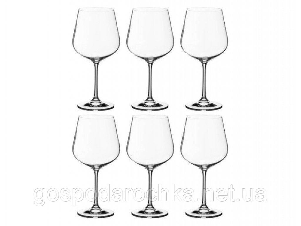 Набор бокалов Bohemia для вина 600 мл (Dora) 1SF73/600 8560