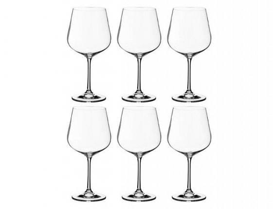 Набор бокалов Bohemia для вина 600 мл (Dora) 1SF73/600 8560, фото 2