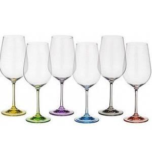 Набор бокалов Bohemia Rainbow 550мл 6шт (40729 / 550S / D4641)