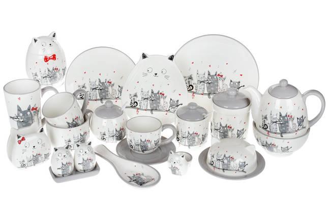Чайник керамический с объемным рисунком Ночная серенада, 800мл, фото 2