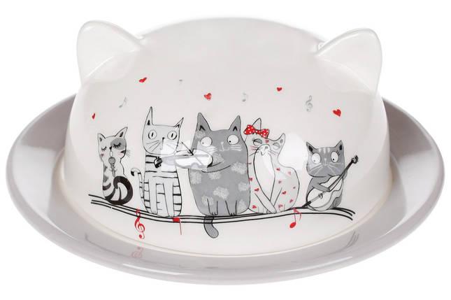 Масленка керамическая фигурная с объемным рисунком Ночная серенада, 16см, фото 2