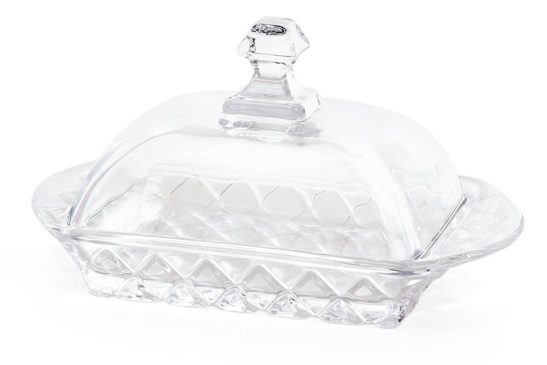 Масленка кухонная стеклянная 17.3см