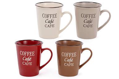 Кружка керамическая  Кофе-Крем, 360мл, 4 вида