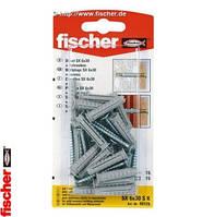 Fischer SX 6 x 30 S K - Дюбель SX с шурупом с потайной головкой, комплект 15 шт.