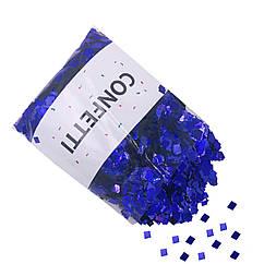 Конфетти Квадратики синий металлик 250 г