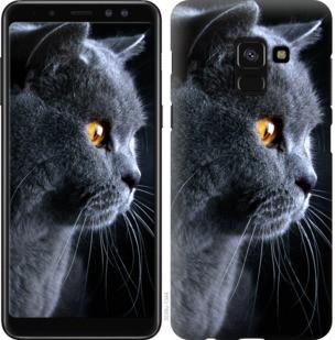 "Чехол на Samsung Galaxy A8 2018 A530F Красивый кот ""3038c-1344-19380"""