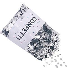 Конфетти Квадратики серебро 250 г