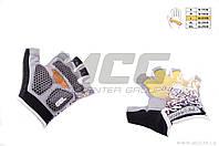 Велоперчатки без пальцев  с гелевыми подушечками без пальцев HAND CREW