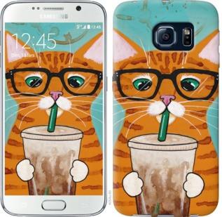"""Чехол на Samsung Galaxy S6 G920 Зеленоглазый кот в очках """"4054c-80-19380"""""""