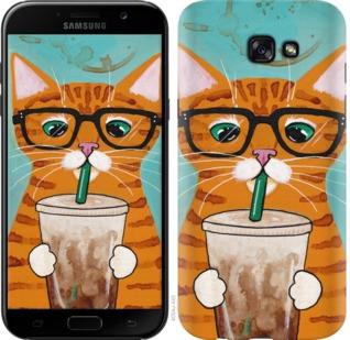 """Чехол на Samsung Galaxy A7 (2017) Зеленоглазый кот в очках """"4054c-445-19380"""""""