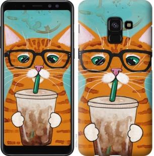 """Чехол на Samsung Galaxy A8 2018 A530F Зеленоглазый кот в очках """"4054c-1344-19380"""""""