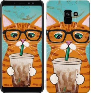 """Чехол на Samsung Galaxy A8 Plus 2018 A730F Зеленоглазый кот в очках """"4054c-1345-19380"""""""