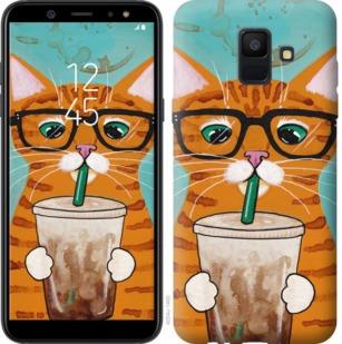 """Чехол на Samsung Galaxy A6 2018 Зеленоглазый кот в очках """"4054c-1480-19380"""""""