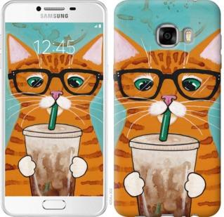"""Чехол на Samsung Galaxy C7 C7000 Зеленоглазый кот в очках """"4054u-302-19380"""""""