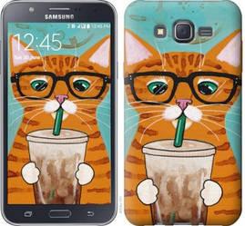 """Чехол на Samsung Galaxy J7 J700H Зеленоглазый кот в очках """"4054c-101-19380"""""""