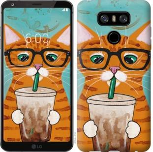 """Чехол на LG G6 Зеленоглазый кот в очках """"4054u-836-19380"""""""