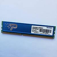 Игровая оперативная память Patriot DDR3 4Gb 1600MHz PC3 12800U 2R8 CL11 (PSD38G1600KH) Б/У, фото 1