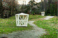 Светильник Эльф без осветительного блока Белый перламутр (Pradex ТМ) Белый