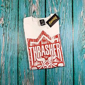 Белая футболка Thrasher • Ориг бирка