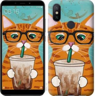 """Чехол на Xiaomi Mi A2 Зеленоглазый кот в очках """"4054c-1481-19380"""""""
