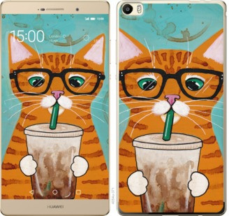"""Чехол на Huawei P8 Max Зеленоглазый кот в очках """"4054u-371-19380"""""""