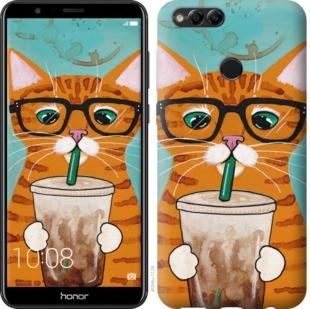 """Чехол на Huawei Honor 7X Зеленоглазый кот в очках """"4054u-1139-19380"""""""